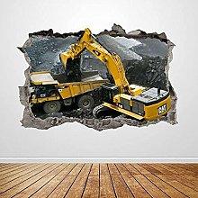 Poster da parete camion fracassato grafica 3D