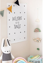 Poster decorativo (50x70 cm) Jungle Kids Bianco -