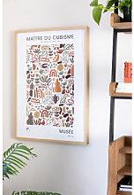 Poster decorativo (50x70 cm) Muse Multicolore