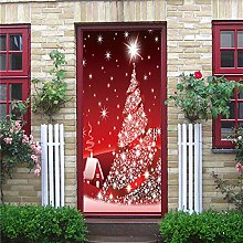 Poster Per Porte 3D Albero Di Natale Adesivo Per