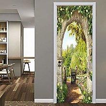 Poster Per Porte 3D Bellissimo Paesaggio Adesivo
