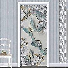 Poster Per Porte 3D Farfalla Adesivi Per Porte