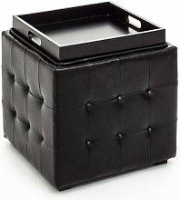 pouf con tavolino DIZZY nero