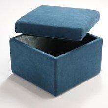 Pouf contenitore cubo apribile in Microfibra di