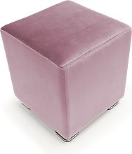 Pouf CUBE in velluto made in italy   rosa