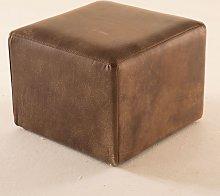 Pouf cubo in Pelle Naturale senza aggiunta di