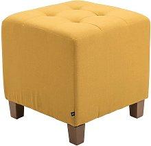 Pouf divano giallo