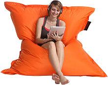 Pouf gigante design arancione BIG MILIBAG