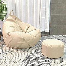 Pouf Imbottito Lazy Sofa Bean Bag Singolo Tessuto
