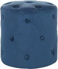 Pouf in velluto color blu scuro COROLLA