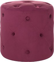 Pouf in velluto color burgundy COROLLA