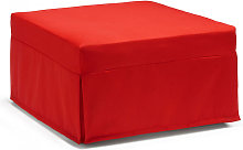 Pouf Letto Flash made in Italy - 80x80 colore Rosso