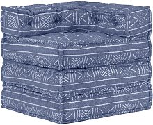 Pouf Modulare Indaco in Tessuto - Blu - Youthup