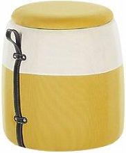 Pouf per bambini con contenitore giallo RUBY