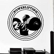 Powerlifting Logo Adesivo Bodybuilding Fitness