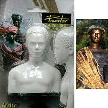 Powertex 18300064 Busto Africano Mezzato Gesso