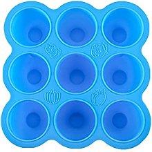 PPuujia, vassoio per cubetti di ghiaccio, 9 fori,