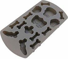PRETYZOOM - Stampo in silicone a forma di teschio,