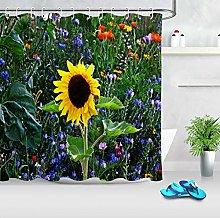 Primavera girasole fiori colorati lavanda Stampa