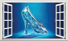 Princess Crystal Shoes Magic Window Wall Art