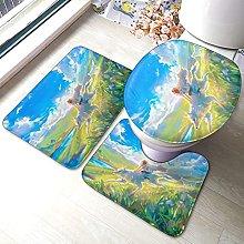 Princess Mononoke - Set di 3 tappetini da bagno