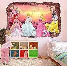 Principessa Fiaba Wall Sticker Murale Decal Print