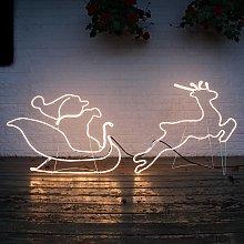 Profilo NeoLED Slitta con Babbo Natale