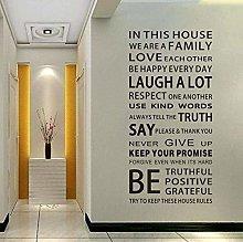 Proverbi Inglesi Adesivo Murale Regole Della Casa