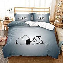 Proxiceen Snoopy - Set di biancheria da letto con