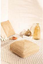 Puff Quadrato di Iuta Pilew 80 x 80 cm Sklum