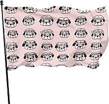 Pugspattern Bandiera da giardino Bandiera da