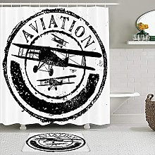 PunKDBOTTO - Set di tende da doccia con design a