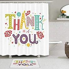 PunKDBOTTO - Set di tende da doccia con scritta in