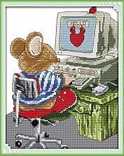 Punto Croce Ricamare Kit per adulto(11CT Stampa