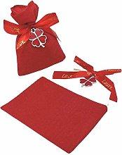 PuntoCasaStore 10 X Sacchetto Portaconfetti Rosso