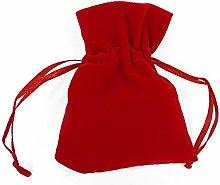 Pz 12 Sacchetto Velluto Rosso 8x10 Cm con Tirante