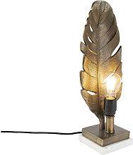 QAZQA Lampada da tavolo leaf - Art déco -