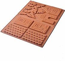 QCSTORE - Stampo in silicone per torta di Natale,