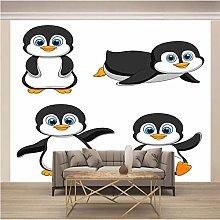 QHWLKJ Adesivo Murale Pinguino dei cartoni animati