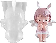 Qians Stampo in Silicone A Forma di Angeli 3D,