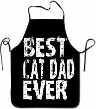QIAOJI Best Cat Dad Ever Chef Cucina e Cottura