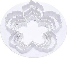 QINGJIA 4pcs peonia fiore petalo forma taglierina