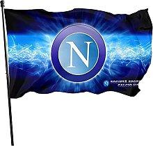 QINLMITE Bandiere da Giardino Stemma Napoli Calcio