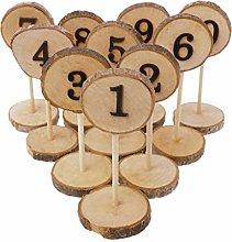 qiuxiaoaa 1-10 Numeri da Tavolo in Legno Rustico
