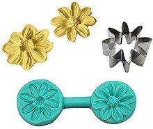 QKFON Stampo per fondente a forma di fiore, forma
