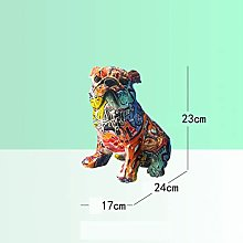 QTBH Statua in Resina Bulldog Animale Cane Resina