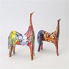 QTBH Statua in Resina Color Animal Creative