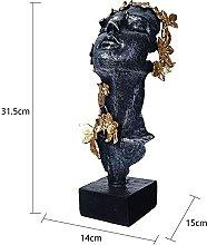 QTBH Statua in Resina Home Modern Figurine for Le