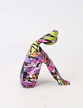 QTBH Statua in Resina Moderna Creativa Yoga Figura
