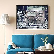 Quadro bicicletta canvas su tela con cornice
